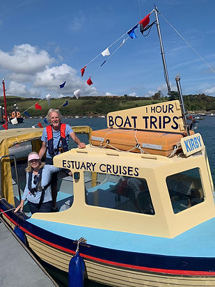 Kirby, our estuary cruise boat with skipper and crew