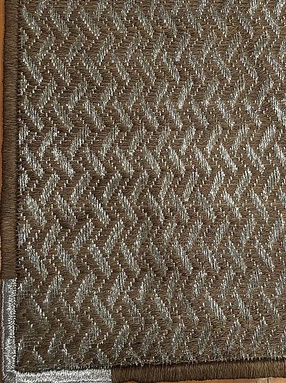 Tapete Fibras Naturales Y Estaño 2.00x1.60