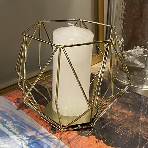 Candelabro Geométrico Dorado Setx2