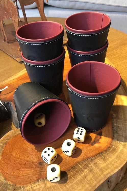 Juego de Cacho (6 vasos y dados)