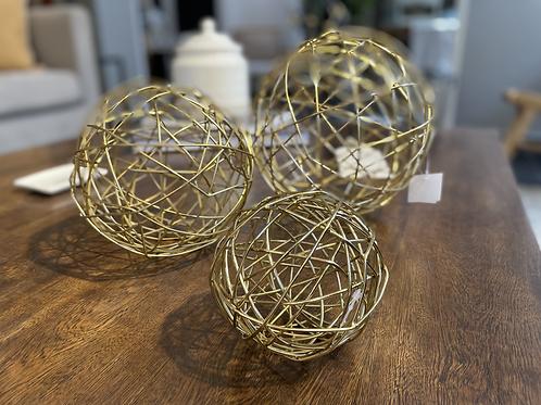 Set bolas x3 Doradas