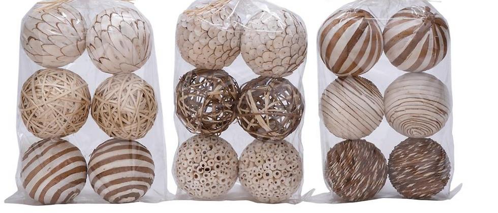 Surtido Bolas Decorativas x 6
