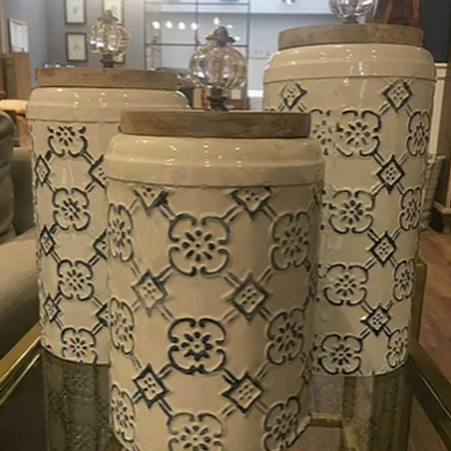 Set x3 Tarros Peltre Mosaic
