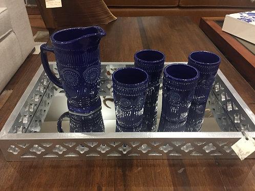 Vasos y jarra en cerámica