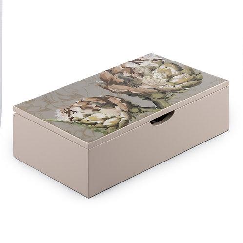 Caja de Te Large Diseño Alcachofas