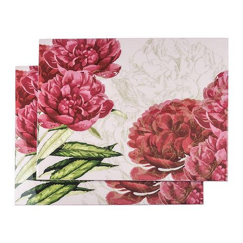 Individuales resina x2 - Rosas