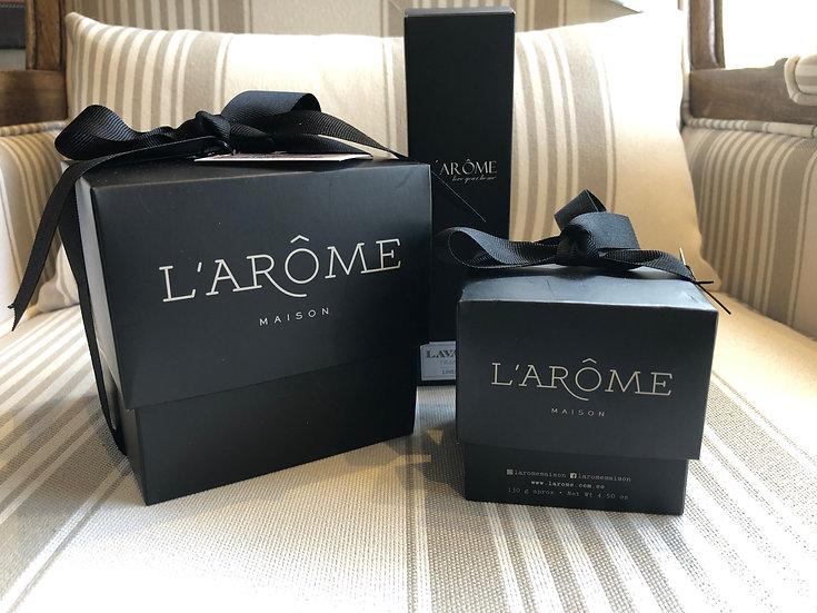 Kit de Olores L'Arome (Vela Lujo, Kraft, Mist y Aceite)