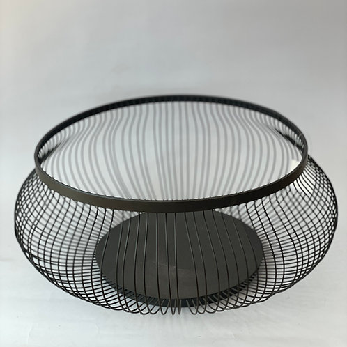 Bowl Frutero Metalico Negro Large