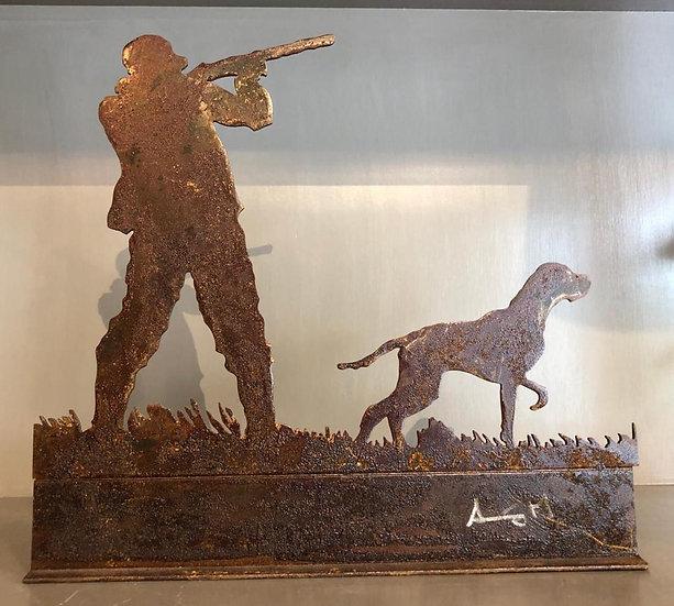 Escultura Cazador