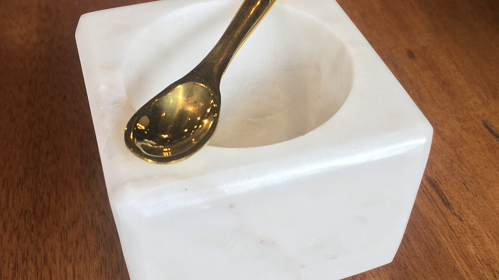 Bowl Mármol con cuchara x2