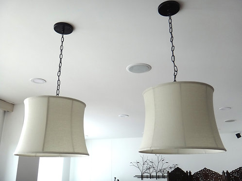Lámpara Colgante con Caperuza Curva