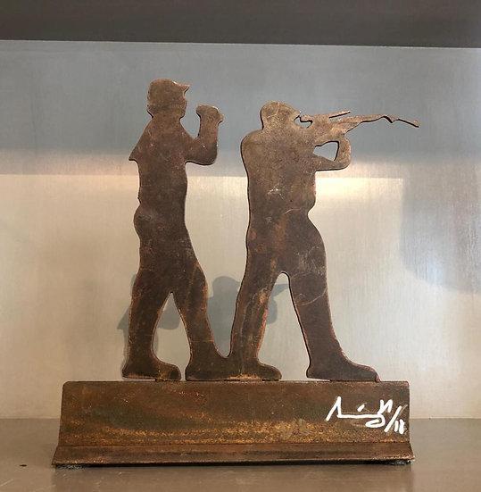 Escultura Cazadores x 2
