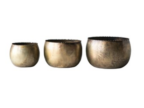 Bowl metalico decorativo large