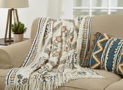 Embellished Throw Multicolor