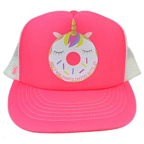 Pink Donut Unicorn Hat