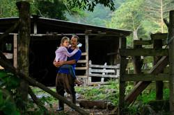 Forêt de nuages -Giovani et sa fille