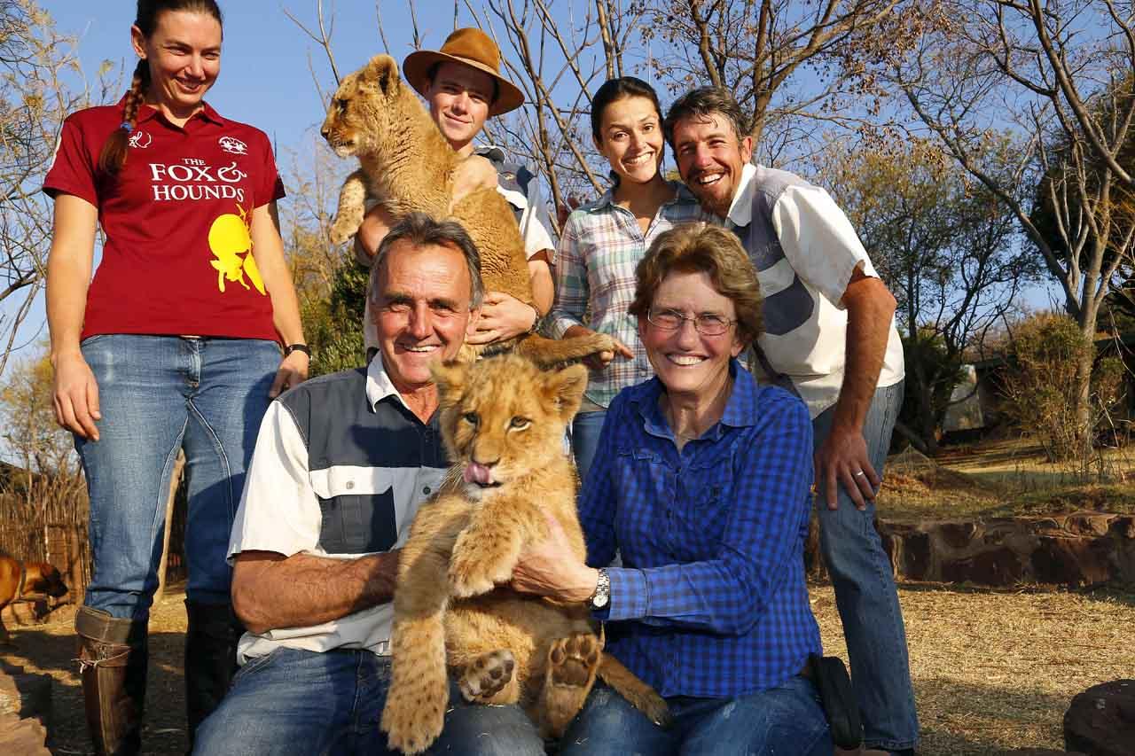 La marche des lions - famille MacRae
