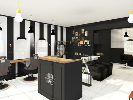Un Barber Shop vintage