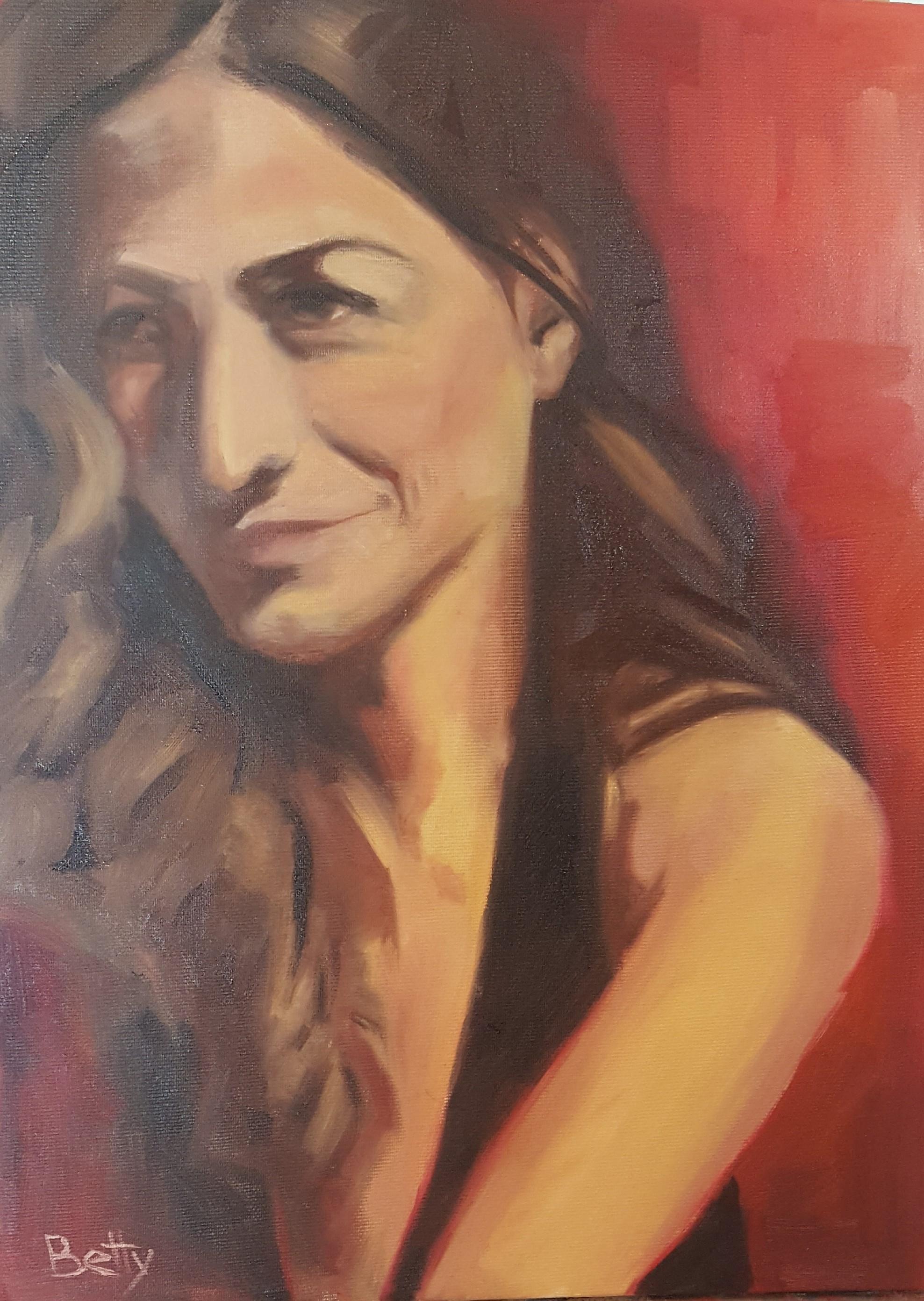 אשה   באדום ב