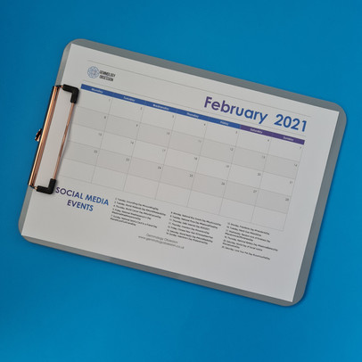 Social Media Calendar Planner - February 2021 with Free PDF Download
