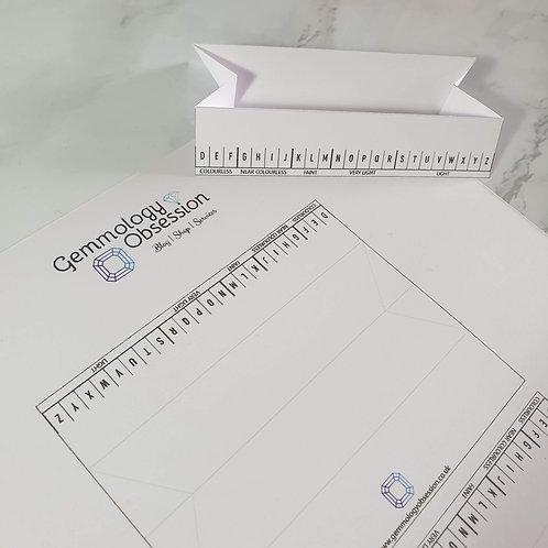 Diamond and Gemstone Colour Grading Paper Tray - Printable