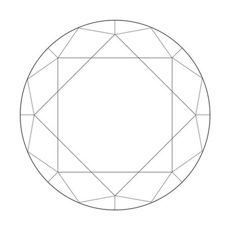 How to draw a Round Brilliant cut Diamond