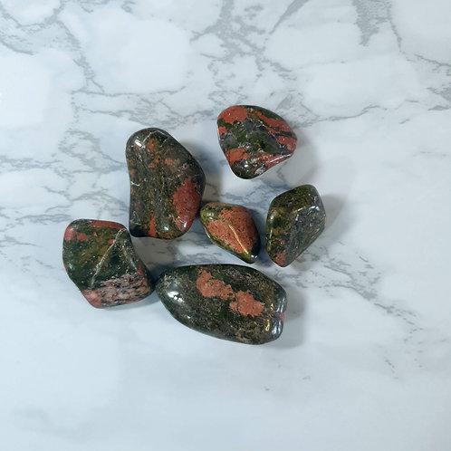 Unakite Tumbled Stone Bag
