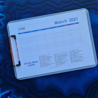 Social Media Calendar Planner - March 2021 with Free PDF Download