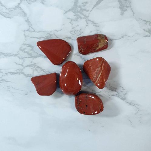 Red Jasper Tumbled Stone Bag