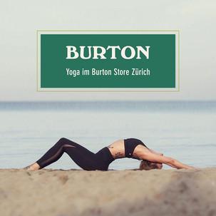 Yoga im Burtonstore