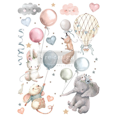 REDESIGN DECOR TRANSFERS® – SWEET DREAMS – TOTAL SHEET SIZE 24″X35″, CUT INTO 2