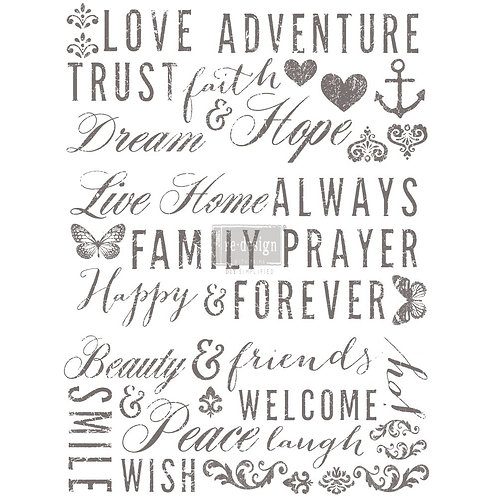 REDESIGN DÉCOR TRANSFERS® – WORDS TO LIVE BY 22″X 30″