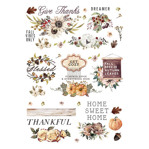 REDESIGN DÉCOR TRANSFERS® – THANKFUL AUTUMN SIZE 24″X 34″