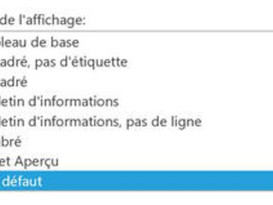 Les styles d'affichage SharePoint