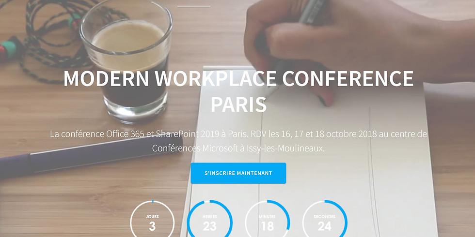 Modern Workplace Conférence PARIS