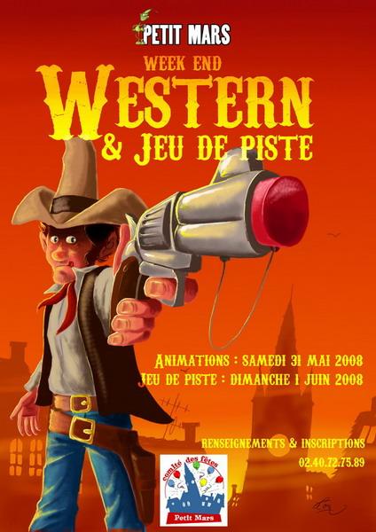 Affiche Journée Western