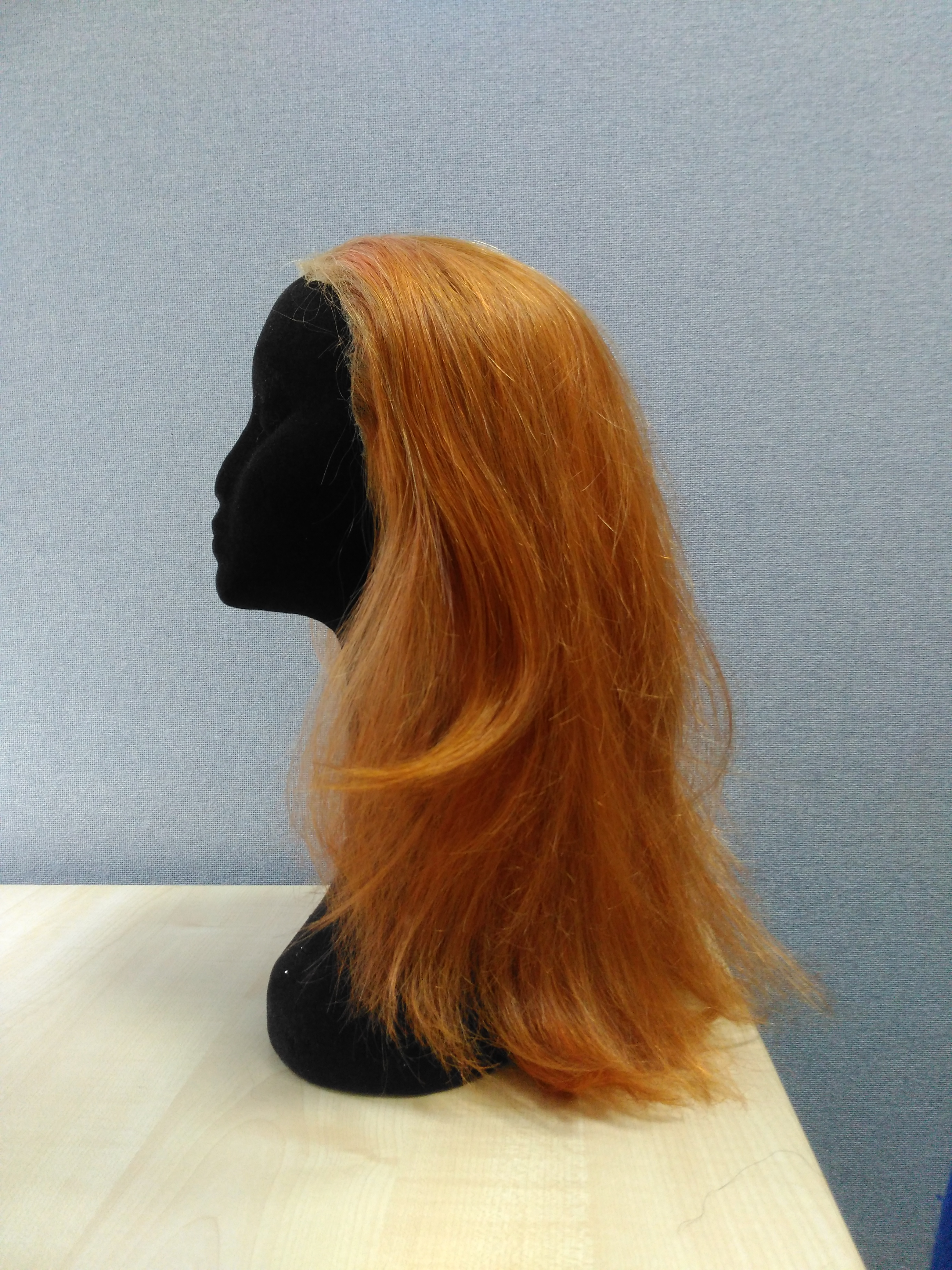 red lace front wig