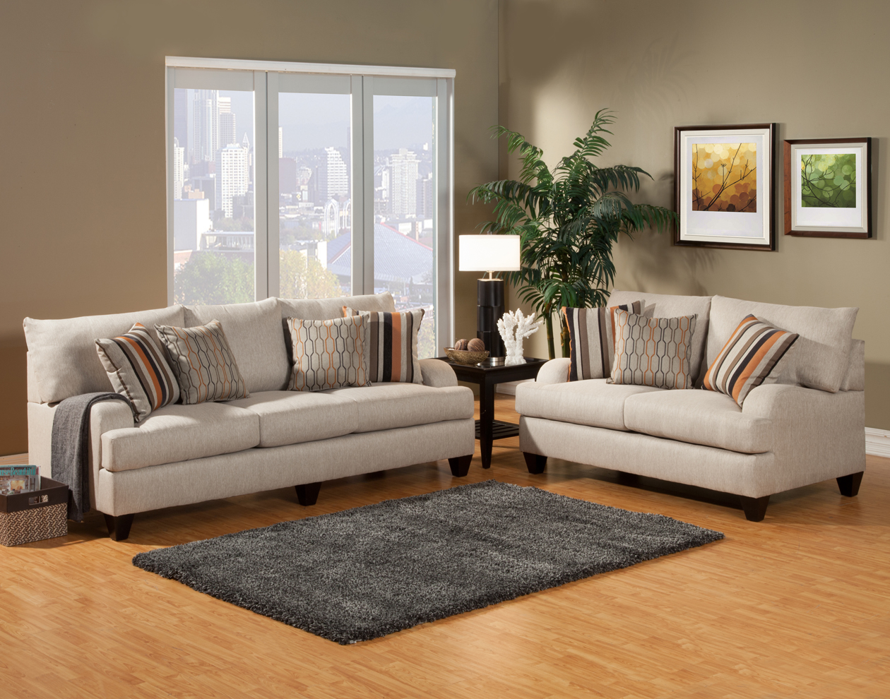 Sofa & Loveseat (Fabric)
