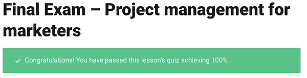 Project Management for Marketers CXL Ins