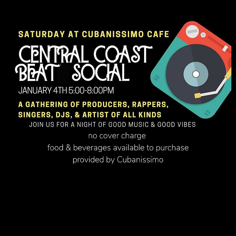 Central Coast Beat Social @ CUBANISSIMO CAFE