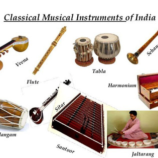 Les instruments de musique de l'Inde, les instruments à cordes