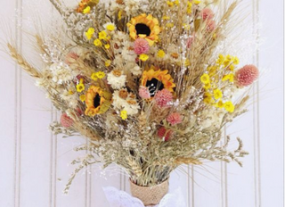 As Flores Secas em Bouquets