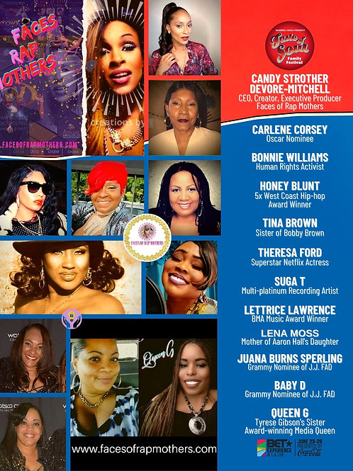 Faces of Rap Mothers™© Event Flyer A