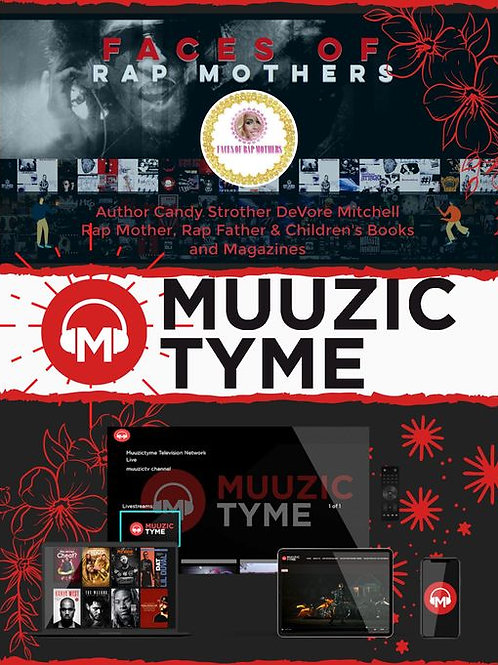 Faces of Rap Mothers™© Muuzic Tyme Poster