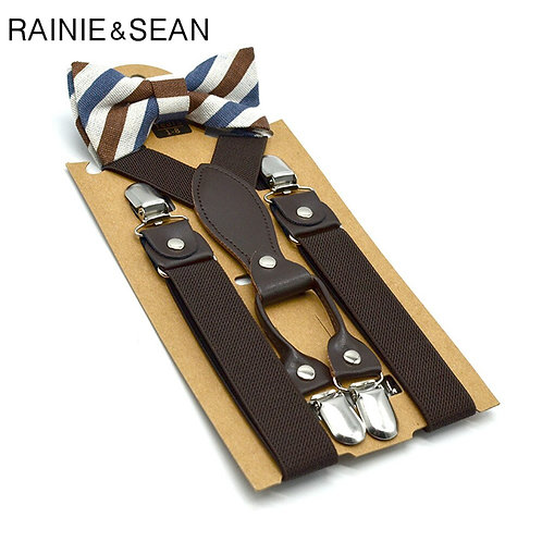 RAINIE SEAN Boys Suspenders With Bow Tie