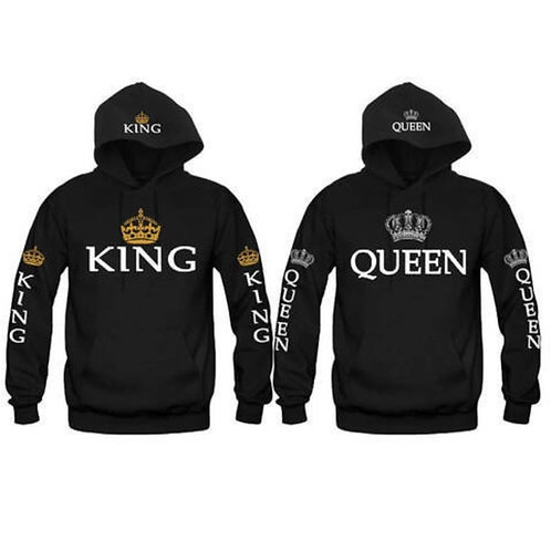 New Couple Matching Hoodie King and Queen-Love