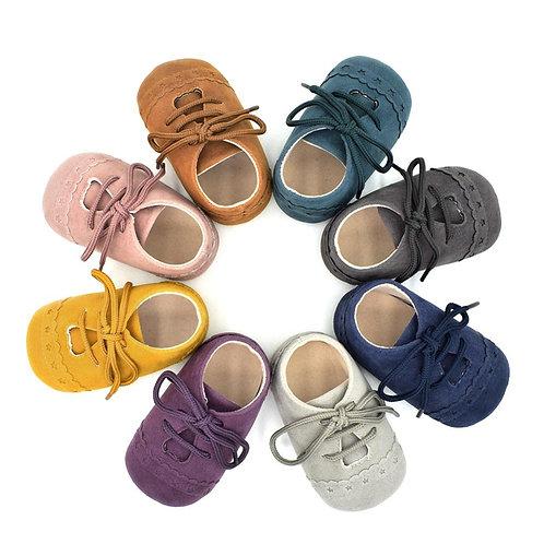 Soft Warm Nubuck Leather Prewalker Anti-Slip Shoes