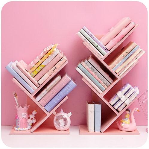 Wood Bookshelf Desktop Book Storage