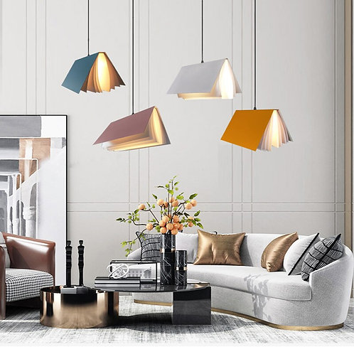 Modern Library Book Bar Bookstore Decoration Personality Art Simple Chandelier