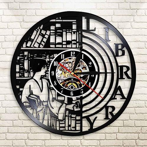 Quartz Wall Library Clock Vinyl Record Timepiece